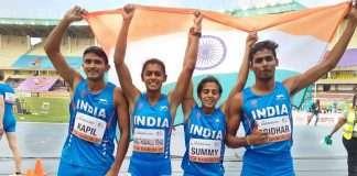 india u20 mixed relay team