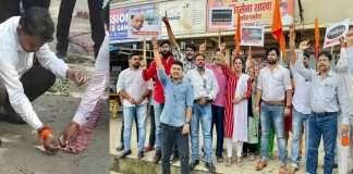 Celebration of Narayan Rane's arrest