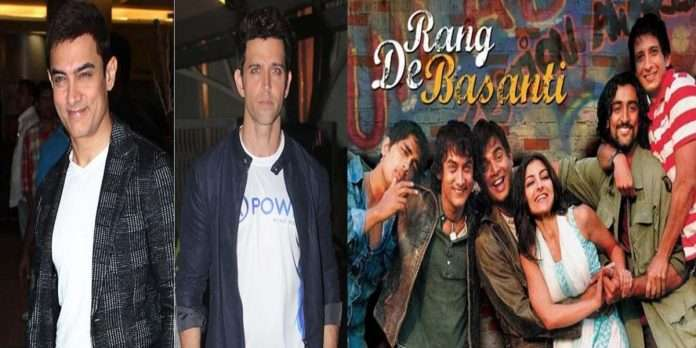 Aamir had requested Hrithik to work in the movie 'Rang De Basanti'.