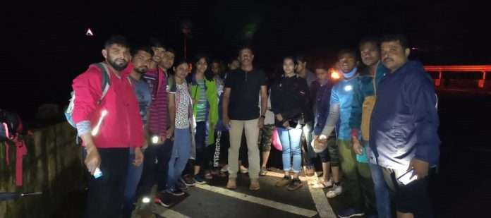 the youth of dombivali who came for trekking matheran peb fort missed the road