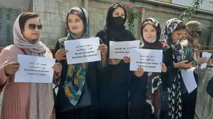 afghanistan crisis taliban spokesperson woman cannot be a minister they should give birth women protesters not represent all women