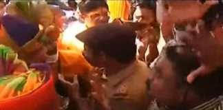 ganesh visarjan 2021 police action on tulshibaug ganpati during immersion