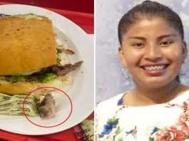 Woman finds a rotting HUMAN finger in her hamburger in Bolivia