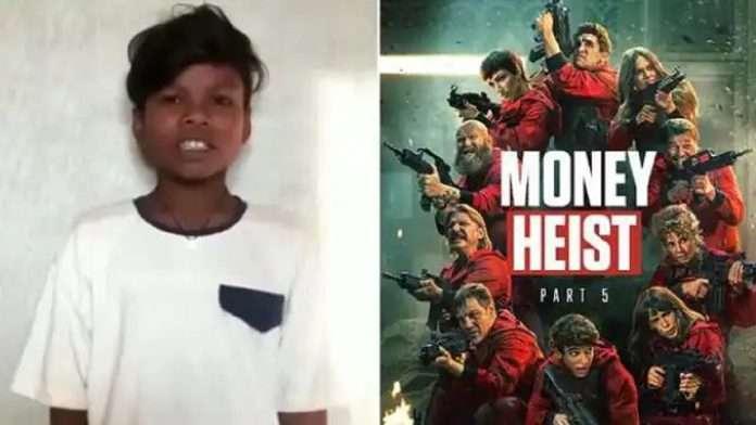 Sahadev new video is viral singing Netflix popular series Money Heist bella ciao