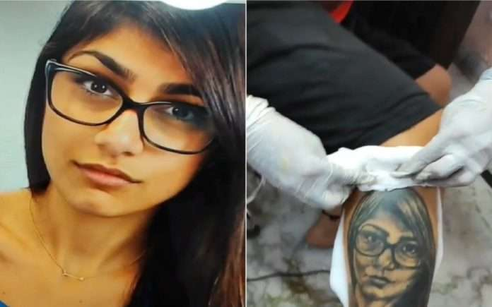 Mia Khalifa Indian Fan Gets Her Face Tattooed On His Leg, She Calls It 'Terrible'