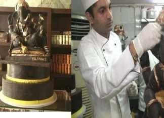 bakery businessman made chocolate ganpati in panjab ludhiyana