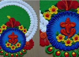 Ganeshotsav 2021 see here some beautiful best latest and trendy rangoli Designs based on ganesh rangoli theme