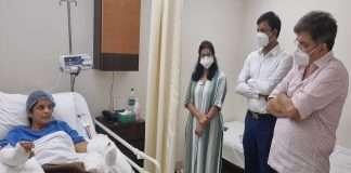 Dr. Jitendra Awhad meet Kalpita Pimple