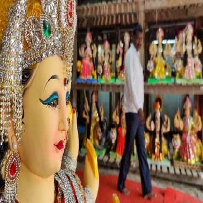 Shardiya Navratri 2021,Durga idols finishing work start in mumbai city