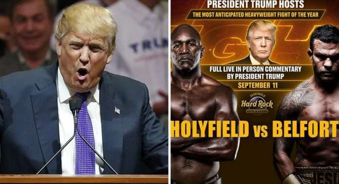 donald trump will host holyfield vs belfort boxing match in florida on september 11