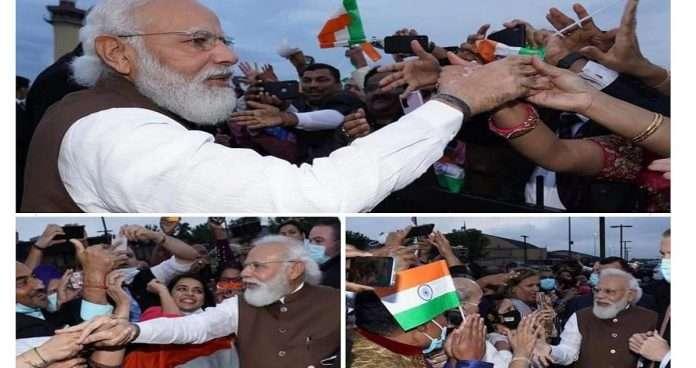 PM Modi US Visit: pm narendra modi meets indians on arrival at joint base andrews in washington