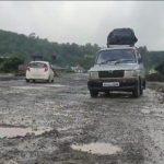 Pits on Mumbai-Goa highway