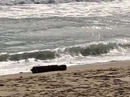 explosive object on beach