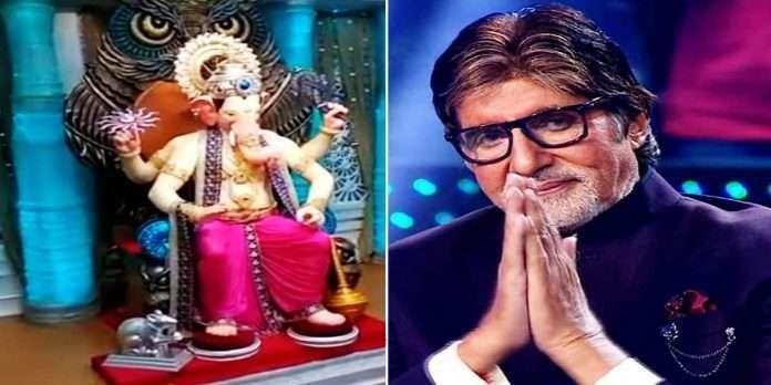 ganesh utsav 2021 amitabh bachchan shared first glimpse of lalbaugcha raja