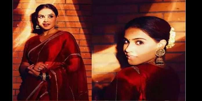 genelia deshmukh traditional look viral