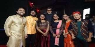 KBC13-Pawandeep Rajan's with Big B on the occasion of Ganeshotsav