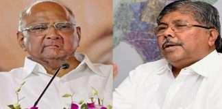 chandrakant patil criticizes congress and praise sharad pawar on rajya sabha candidate
