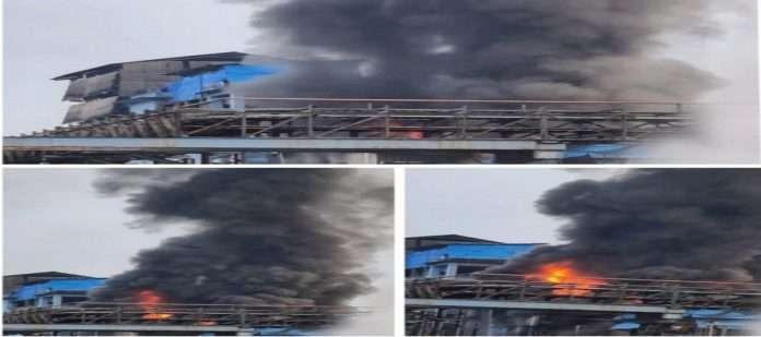 Massive fire at Kemspec factory in Taloja industrial estate