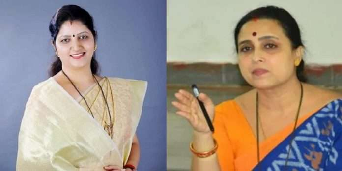 BJP Leader Chitra Wagh Slams NCP Leader rupali chakankar on Chairperson of Women's Commission