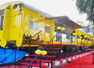 restaurant on wheels set up at csmt station mumbai