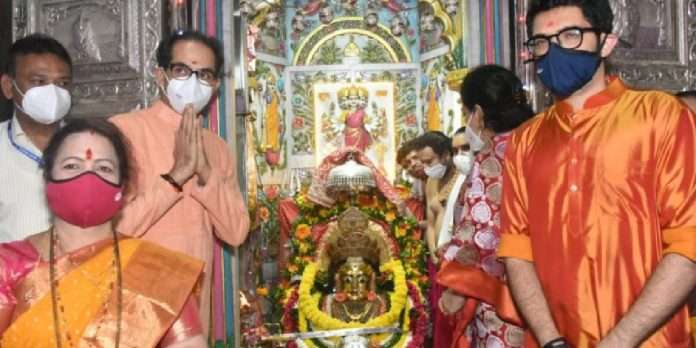 Temple Reopen CM Uddhav Thackeray visit Mumbadevi with his family