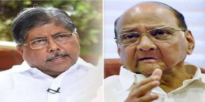 Chandrakant Patil apologized on his statement about sharad pawar