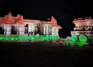 100 crore vaccination Historic places of country glow in Tri-color to celebrate the landmark achievement