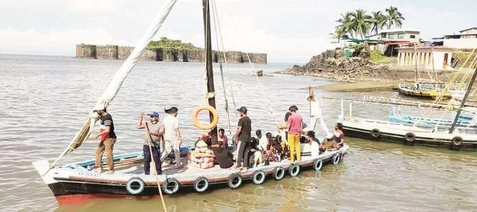 Water transport started for Janjira fort