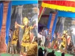 Ravana's bhangra on Punjabi song video viral on social media
