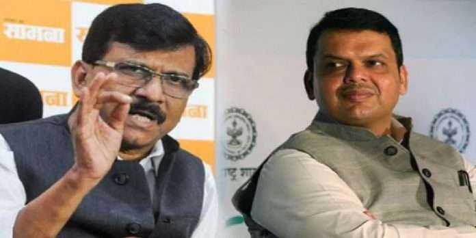 Sanjay Raut and Devendra Fadnavis