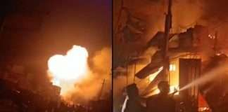 Five people killed in fire at a firecracker shop in Sankarapuram town of Kallakurichi district of Tamil Nadu