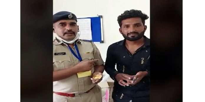 crime news jalgaon one arrested while copying munnabhai style in police recruitment exam