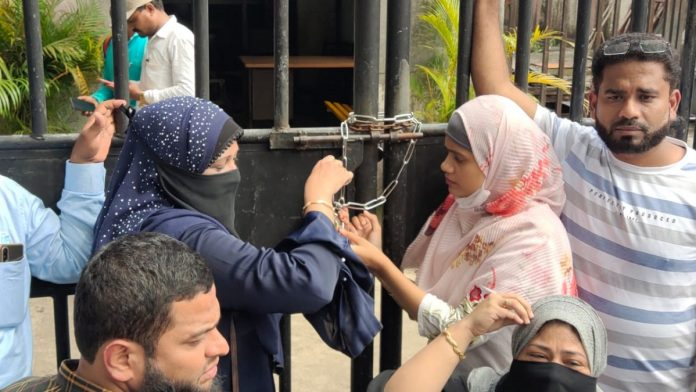 Kausa water supply office locked by NCP women