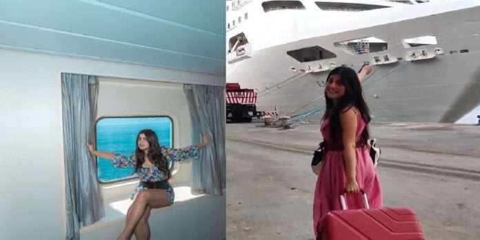 actress Shenaz Treasury enjoying picnic on the NCB-raided Cardelia Cruise