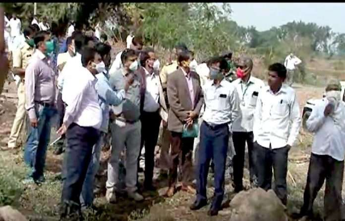 central squad came in maharashtra for inspection of crop loss of farmers