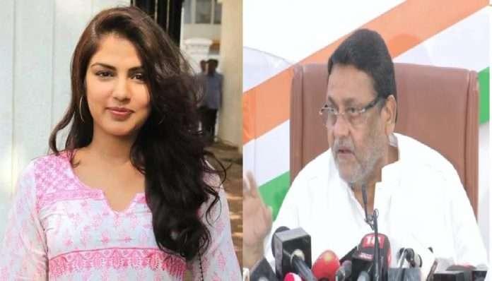 nawab malik serious allegations on ncb rhea chakraborty case karan sajnani