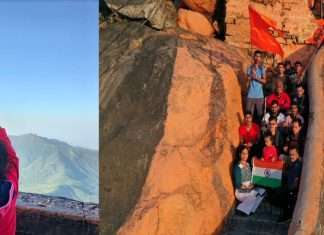 A four-year-old girl hoisted the Maharashtra flag on Girnar, the highest peak in Gujarat